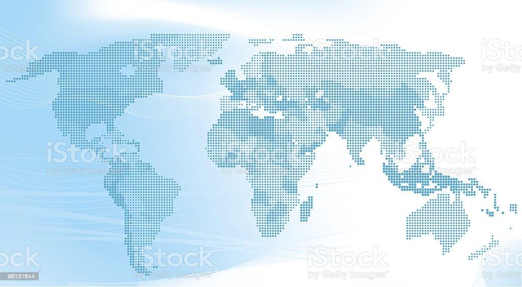 Blu mappa del mondo fatto di punti. blu mappa del mondo fatto di punti - immagini vettoriali stock e altre immagini di africa royalty-free