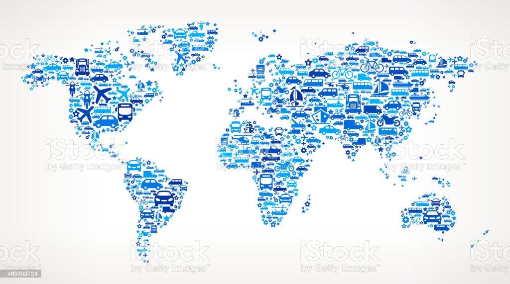 Blue world map on transportation interface icon pattern stock vector blue world map on transportation interface icon pattern royalty free blue world map on transportation gumiabroncs Gallery