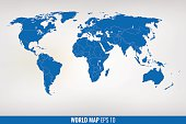 Image of a vector world map. EPS 10Image of a vector world map. EPS 10