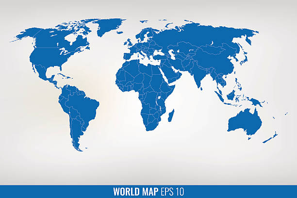 Royalty free world map clip art vector images illustrations istock blue world map vector vector art illustration gumiabroncs Choice Image