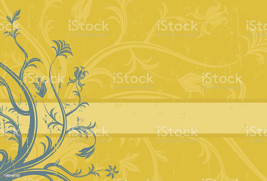 Blue yellow design royalty-free stock vector art