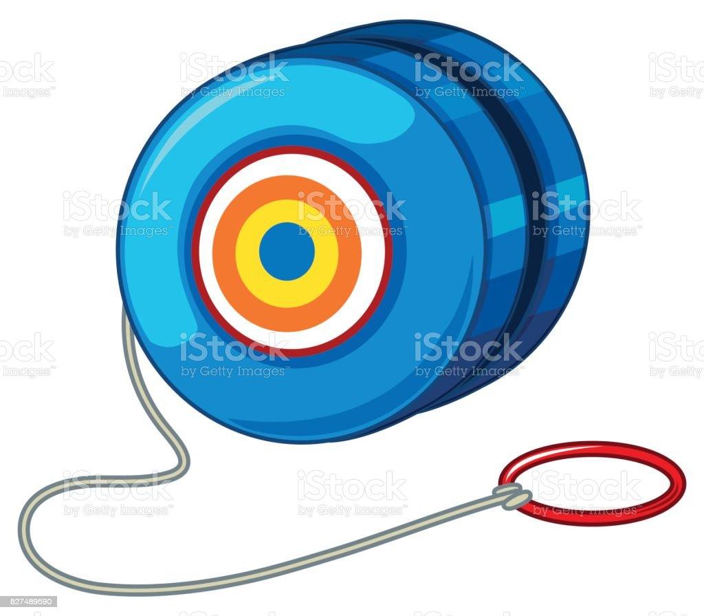 Blue yo-yo with red ring