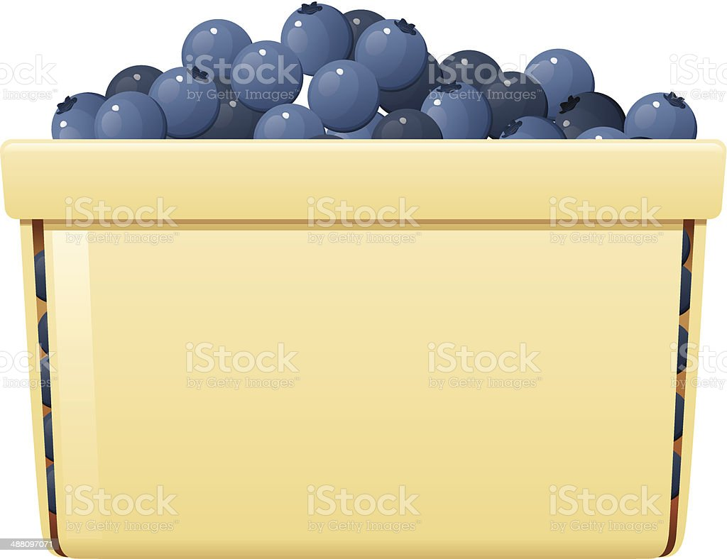 Blueberry Basket royalty-free stock vector art