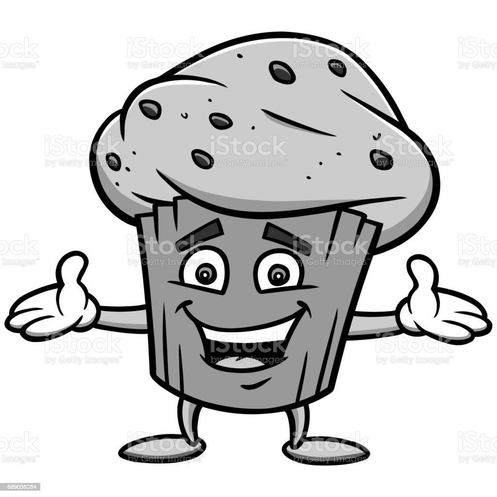 Blueberry Muffin Illustration vector art illustration