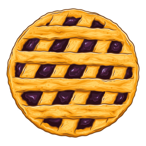 Blueberry Pie Illustrations, Royalty-Free Vector Graphics ...