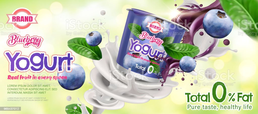 Blueberry yogurt ad blueberry yogurt ad - stockowe grafiki wektorowe i więcej obrazów brokat - wyposażenie artysty i rzemieślnika royalty-free