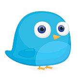 Bluebird social media cartoon vector