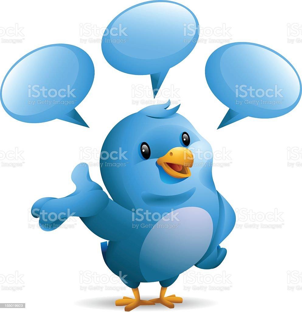Bluebird: Speaking vector art illustration