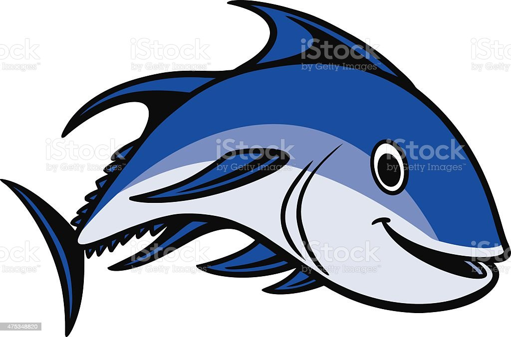 Bluefin Tuna Swimming vector art illustration