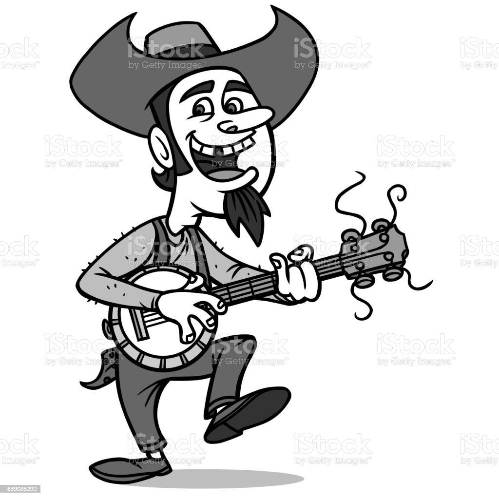 Bluegrass Bill Illustration vector art illustration