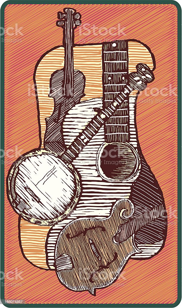 Bluegrass Music Concept vector art illustration