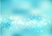 Bluelight background abstract design vector illustration blur circle bokeh, snow, Vector illustration
