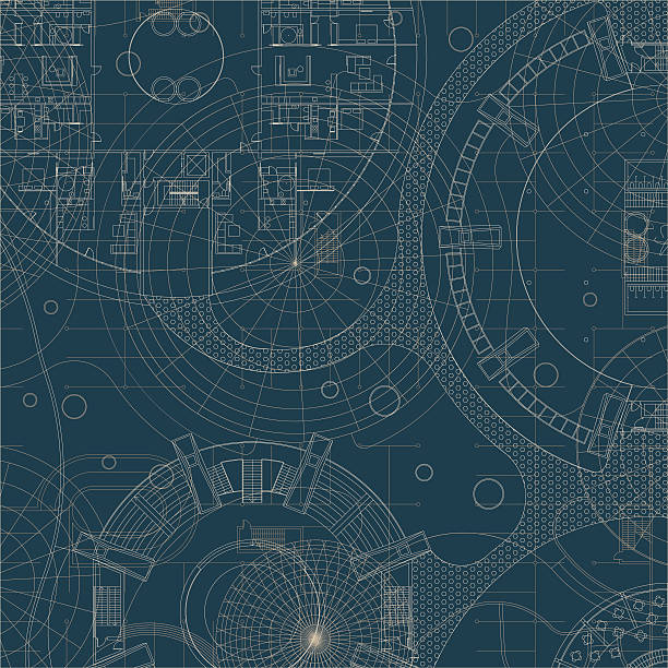 Blueprint. plan Architectural. - Illustration vectorielle