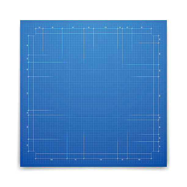bildbanksillustrationer, clip art samt tecknat material och ikoner med blueprint background - graph paper - blueprint