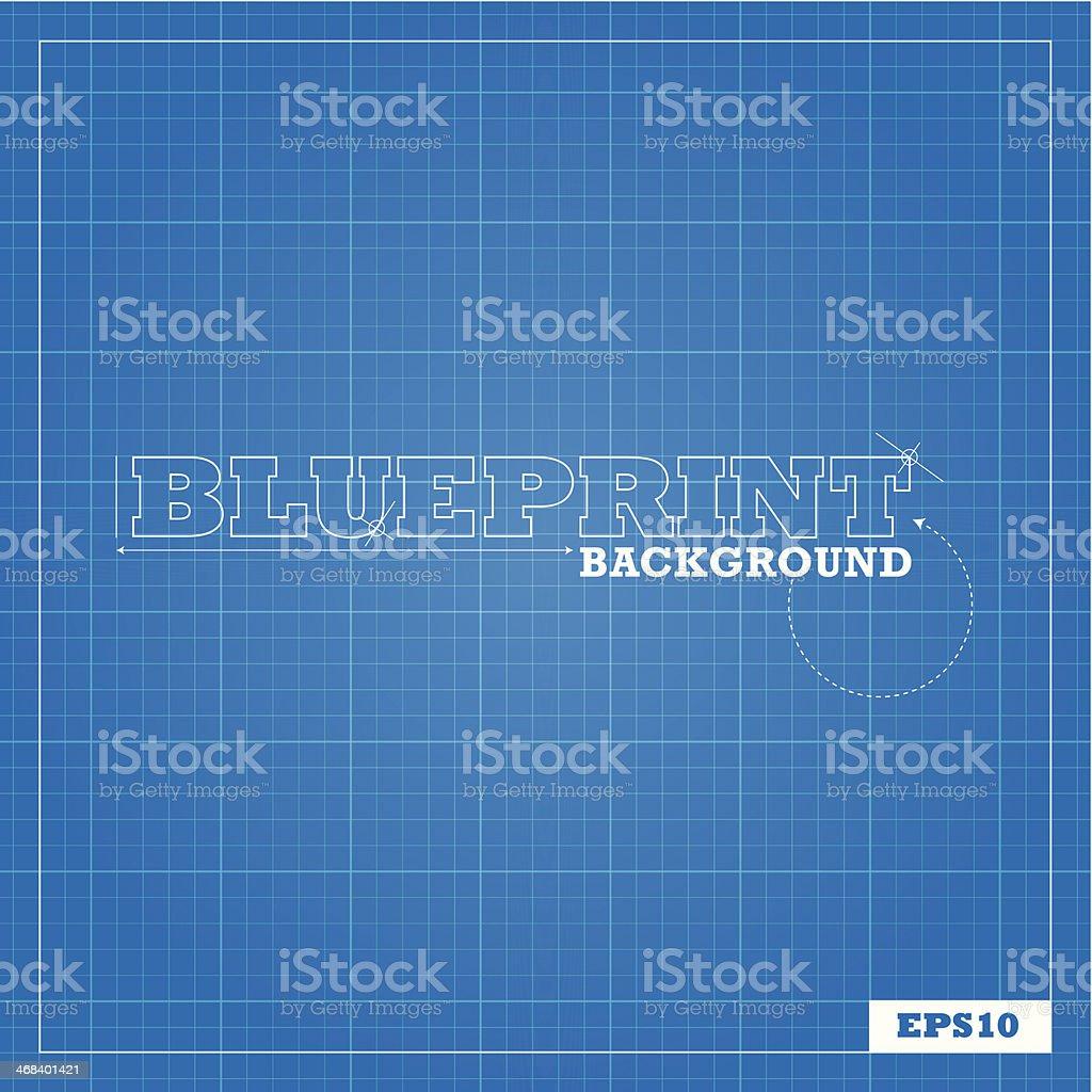 Blueprint Background vector art illustration