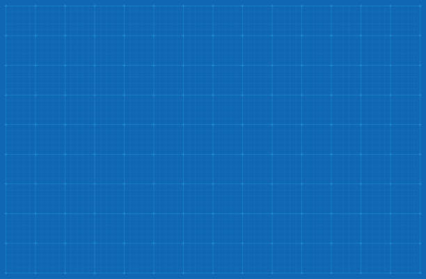 blueprint background - blue drawings stock illustrations