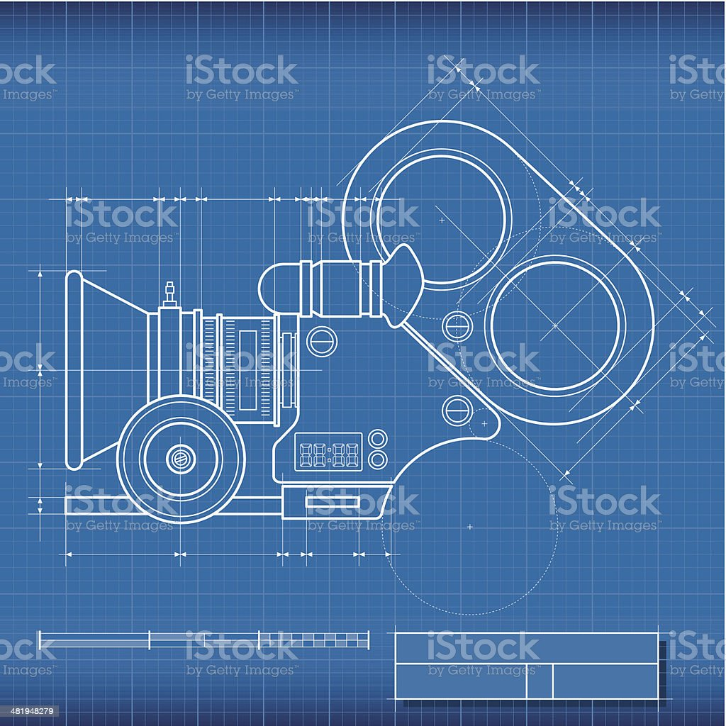 Blueprint camera film stock vector art more images of arts culture blueprint camera film royalty free blueprint camera film stock vector art amp more images malvernweather Images