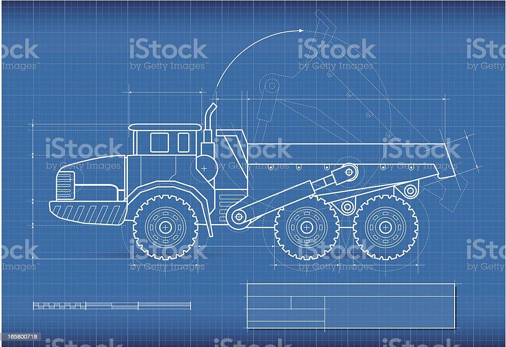 Blueprint dump truck stock vector art 165800718 istock blueprint dump truck royalty free stock vector art malvernweather Images