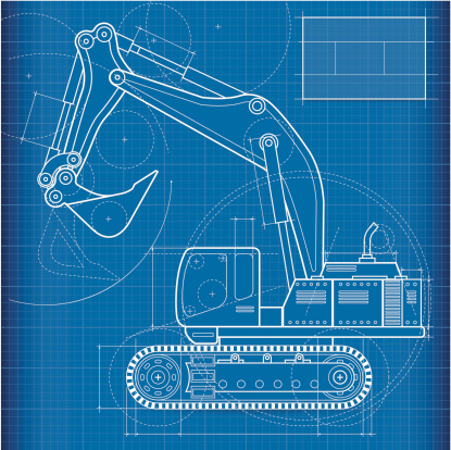 Blueprint, excavator