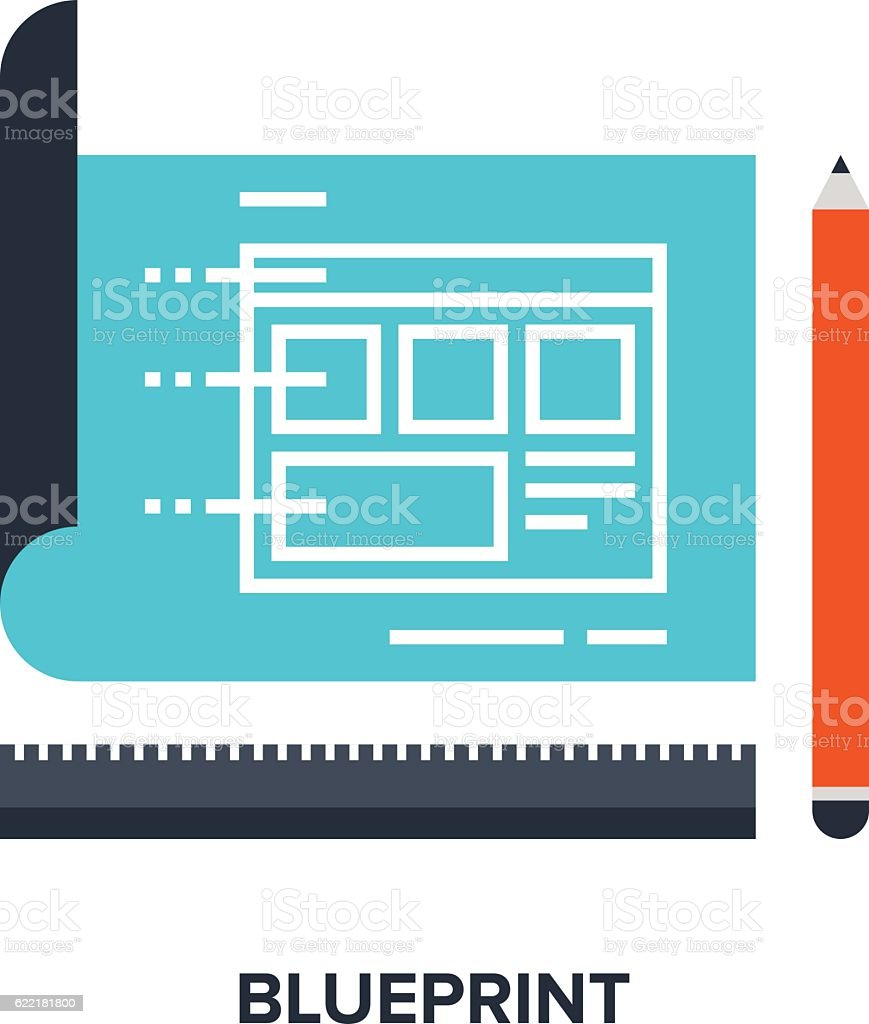 Blueprint flat concept stock vector art more images of banner blueprint flat concept royalty free blueprint flat concept stock vector art amp more images malvernweather Images
