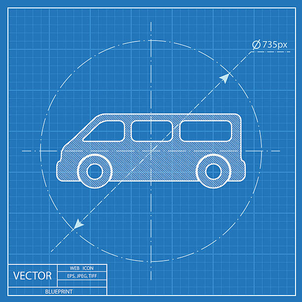 Royalty free car engine blueprint clip art vector images blueprint icon of car vector art illustration malvernweather Choice Image