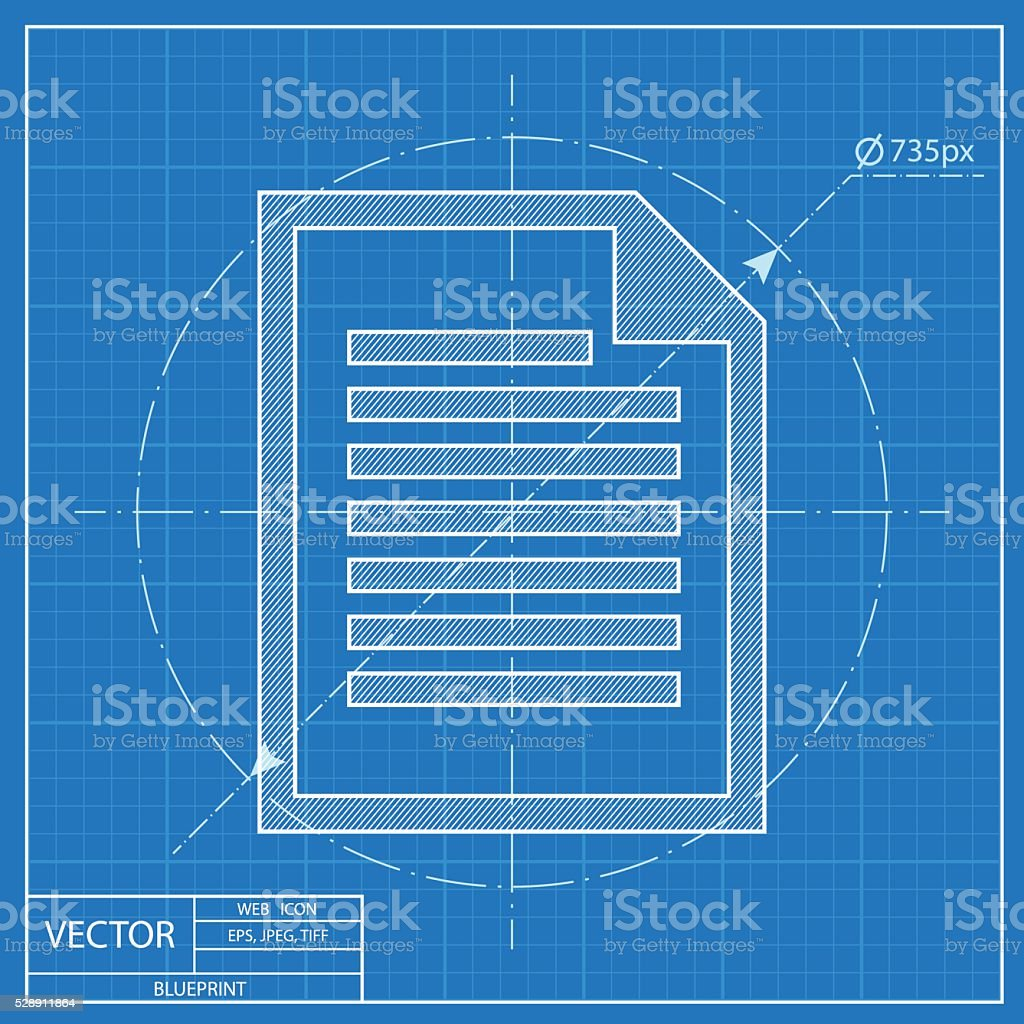 Blueprint icon of document stock vector art more images of blueprint icon of document royalty free blueprint icon of document stock vector art amp malvernweather Gallery