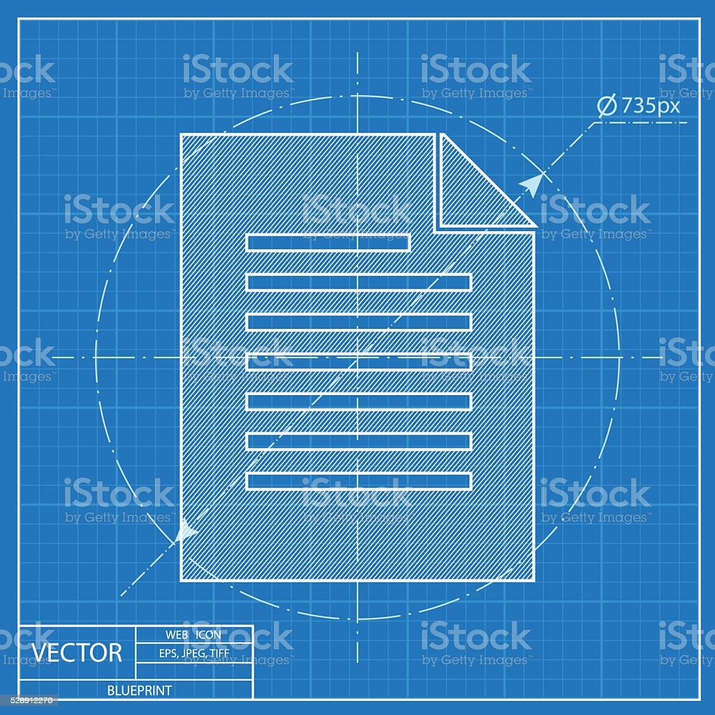 Blueprint icon of document stock vector art more images of blueprint icon of document royalty free blueprint icon of document stock vector art amp malvernweather Choice Image