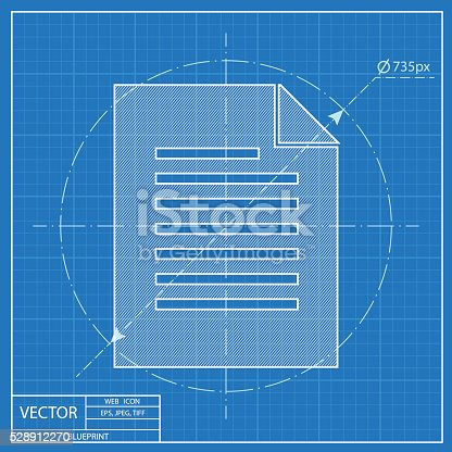 Blueprint icon of document stock vector art more images of blueprint icon of document stock vector art more images of archives 528912270 istock malvernweather Images