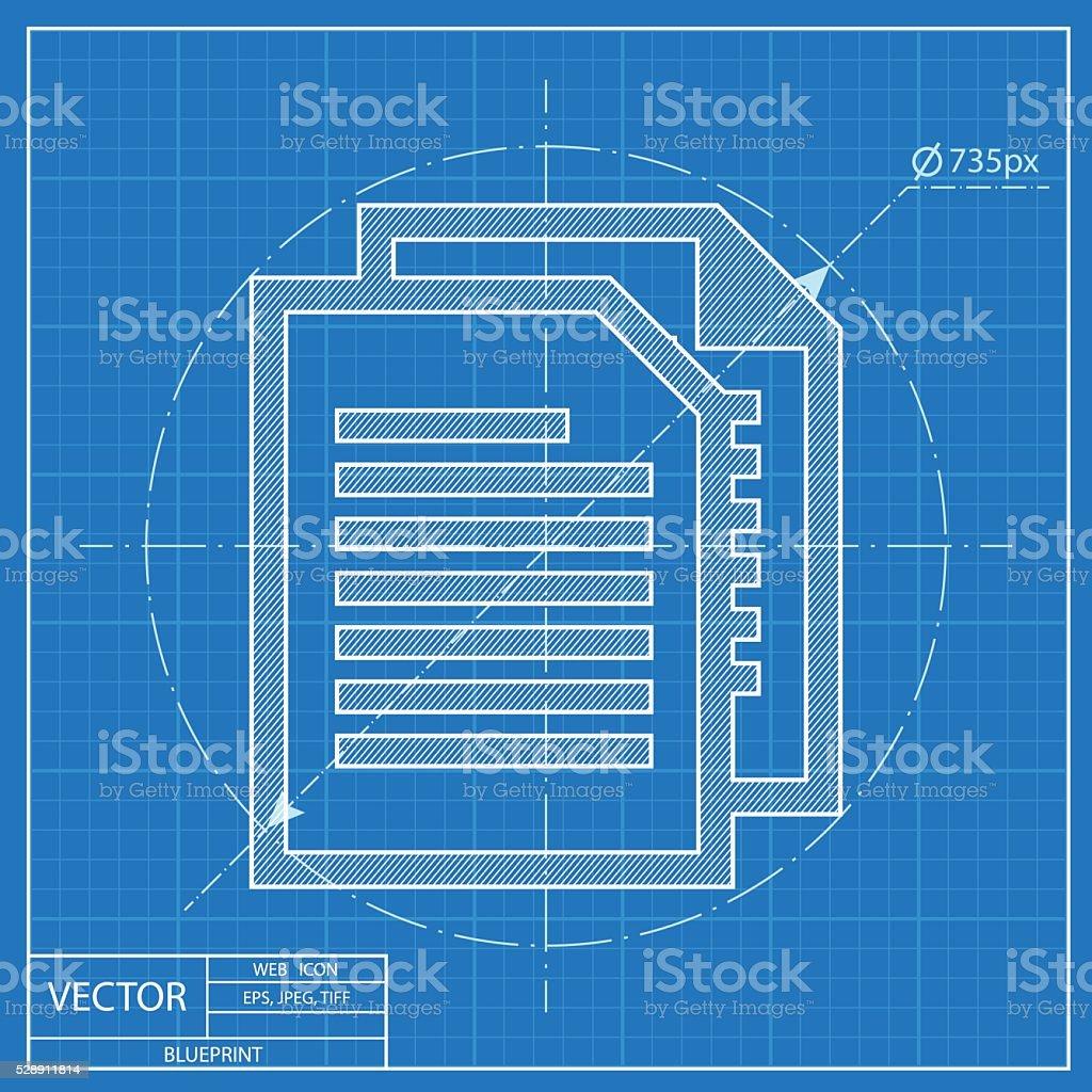 Blueprint icon of documents stock vector art more images of blueprint icon of documents royalty free blueprint icon of documents stock vector art amp malvernweather Choice Image