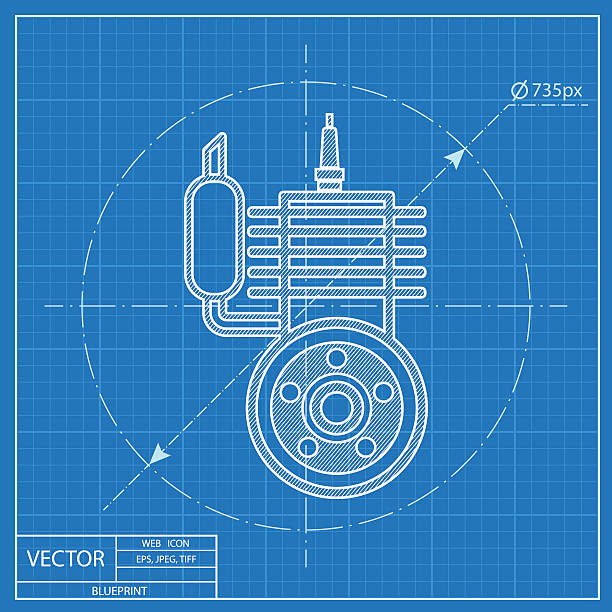 Royalty free motorcycle blueprint clip art vector images blueprint icon of engine vector art illustration malvernweather Images