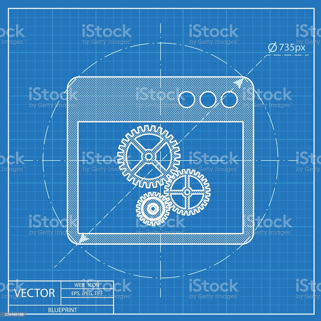 Computer web blueprint icon vector court dimensions of volleyball blueprint icon of options window stock vector art 524400196 istock blueprint icon of options window vector malvernweather Image collections