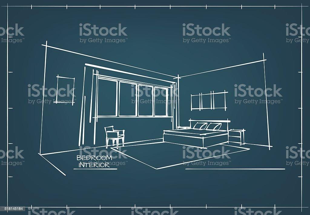 Blueprint interior drawing stock vector art 518145184 istock blueprint interior drawing royalty free stock vector art malvernweather Image collections