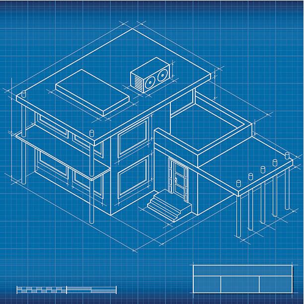 Royalty free blueprint house construction isometric clip art vector blueprint isometric house vector art illustration malvernweather Images