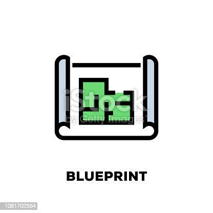 Blueprint Line Icon