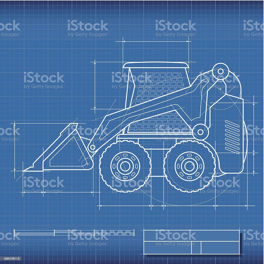 Blueprint Loader royalty-free stock vector art