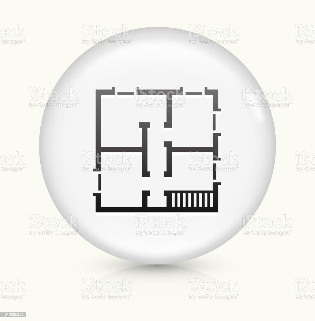 Blueprint of a house icon on white round vector button stock vector blueprint of a house icon on white round vector button royalty free stock vector art malvernweather Choice Image