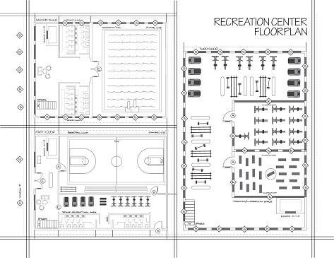 Blueprint of recreation center