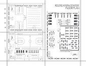 istock Blueprint of recreation center 1270296624