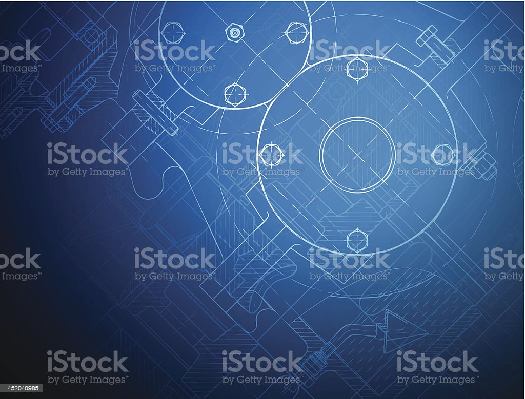 Blueprint of the reducing gear royalty-free blueprint of the reducing gear stock vector art & more images of abstract