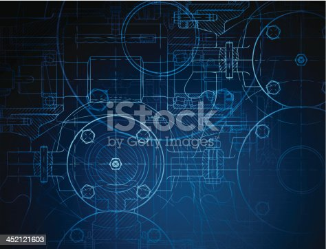 istock Blueprint of the reducing gear 452121603