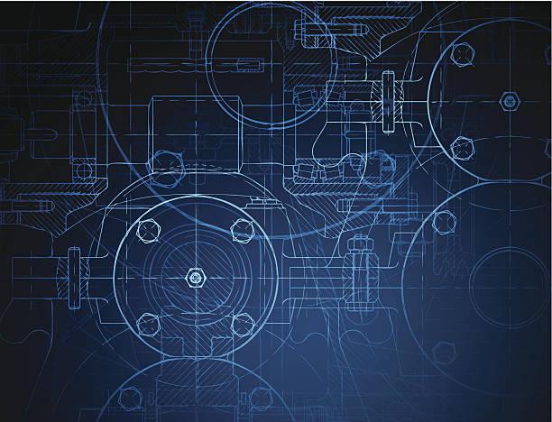 projekt z redukcji biegu - inżynieria stock illustrations
