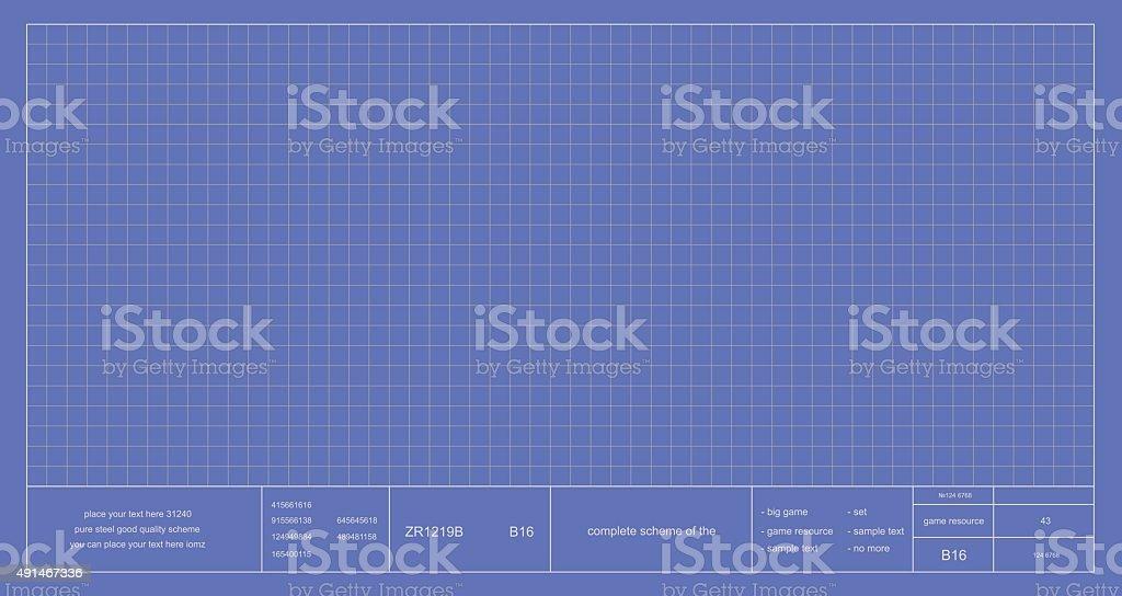 Blueprint project scheme vector art illustration