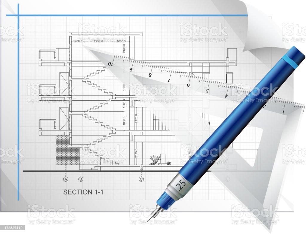 Blueprint Sheet royalty-free stock vector art