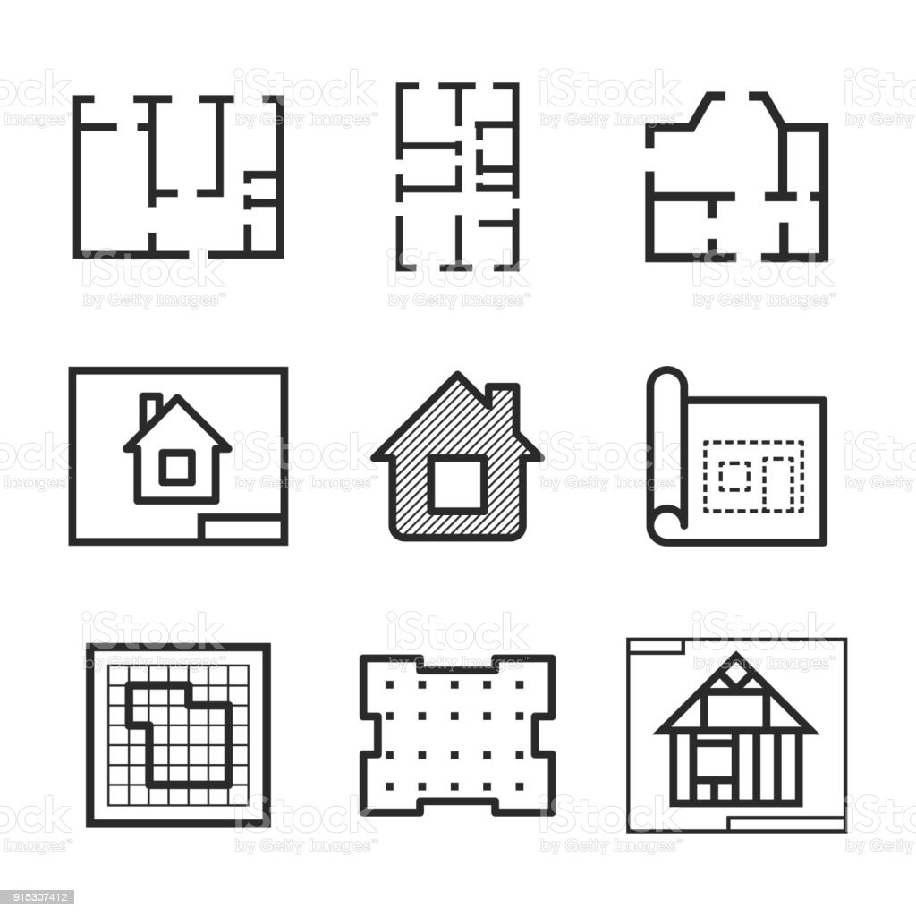 Blueprint vector icons stock vector art more images of backgrounds blueprint vector icons royalty free blueprint vector icons stock vector art amp more malvernweather Image collections
