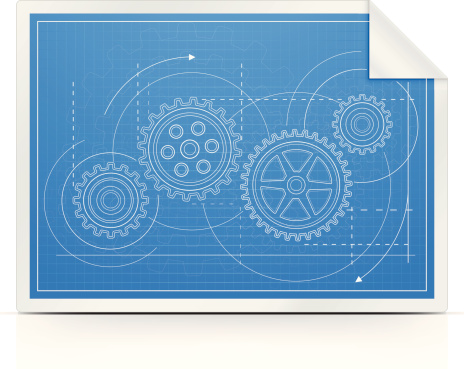 Blueprint with Gears