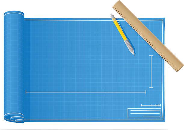 Blueprints vector art illustration