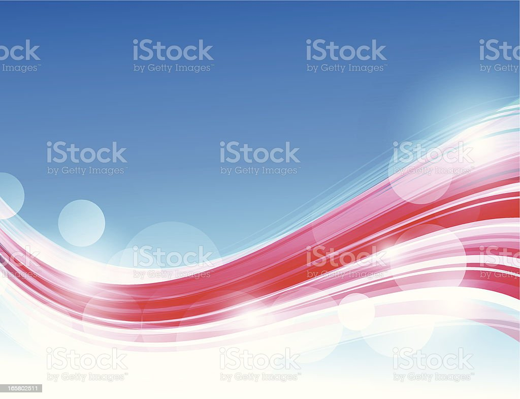 Blue/red lines royalty-free stock vector art