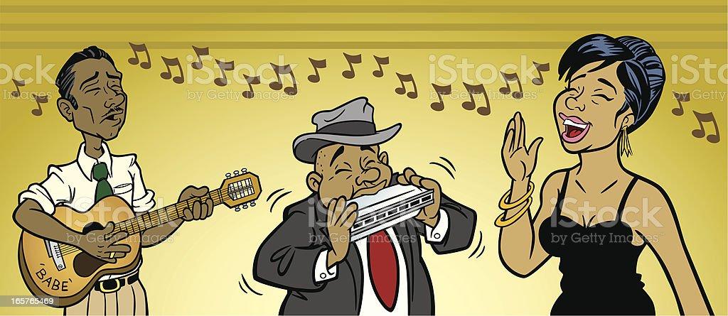 Blues Musicians royalty-free stock vector art