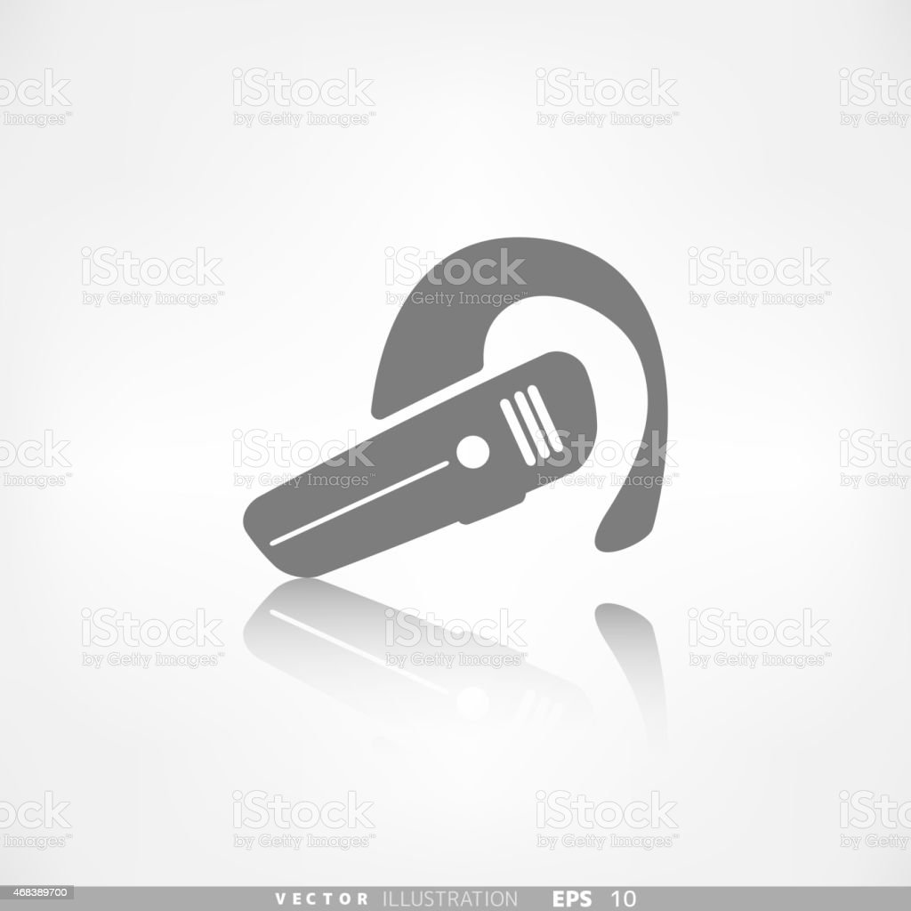 Bluetooth Headset icon. Wireless connection vector art illustration