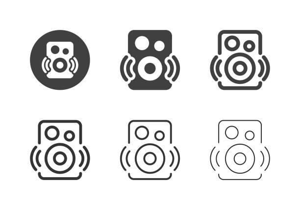 Bluetooth Speaker Icons - Multi Series vector art illustration
